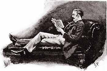 """Χολμς: """"Παρατήρησα ότι αρκετά συχνά διέκοπτες την ανάγνωση του βιβλίου σου για να ξεφυλλίσεις ένα άλλο βιβλίο, που έχει ανοιχτό στο τραπέζι""""."""